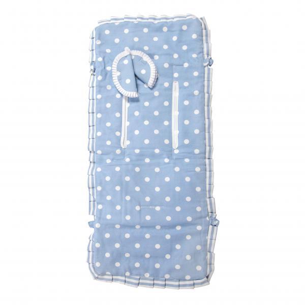 Colchoneta ligera reversible Carrusel Azul