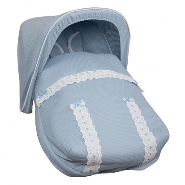 Saco Porta bebé Classic Azul (capota no incluida)